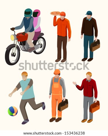 several people isometric