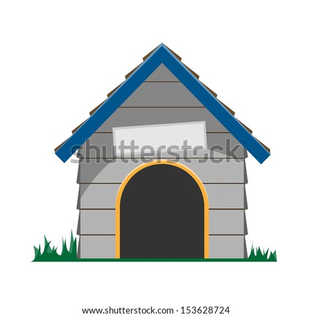 cartoon dog house vector
