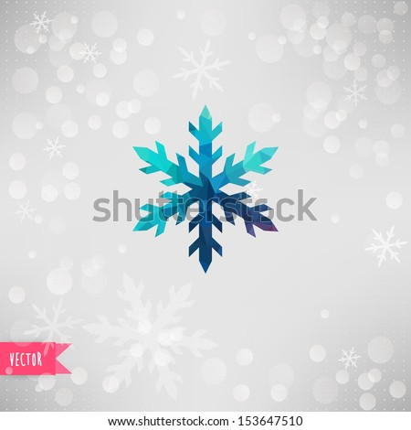 vector snowflake abstract