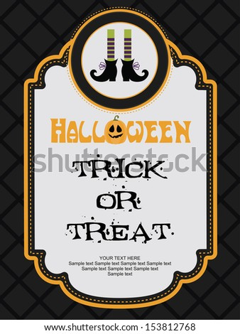 happy halloween card design