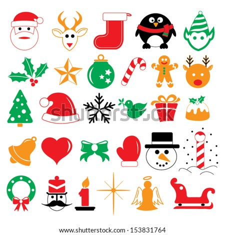 stock-vector-christmas-holiday-icons-and-symbols