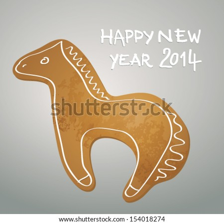 gingerbread horse   happy new