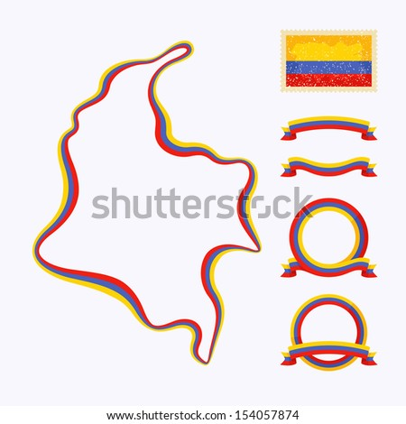 outline map of colombia border