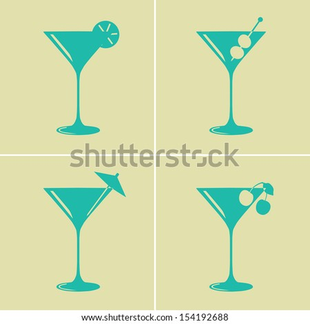 vintage colored martini