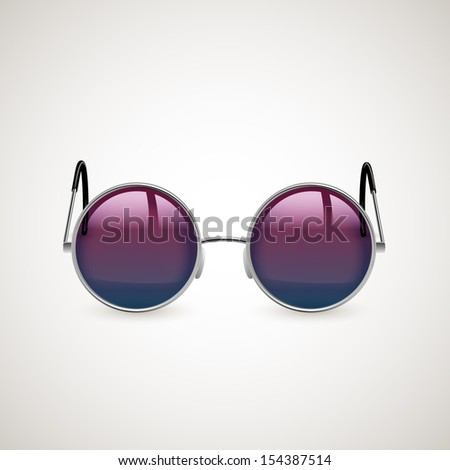 round sunglasses  eps10 vector