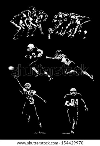 sketches of football players