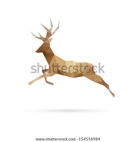 deer abstract isolated on a