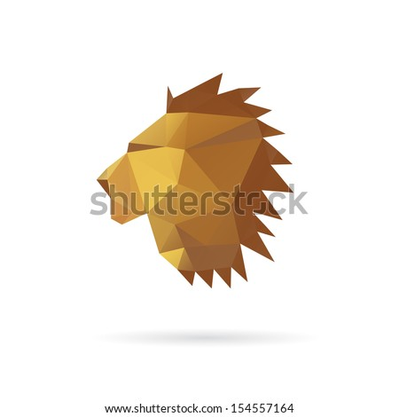 lion head abstract isolated on