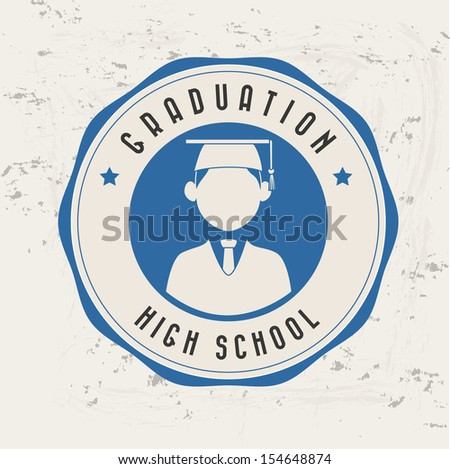 graduation label over pattern