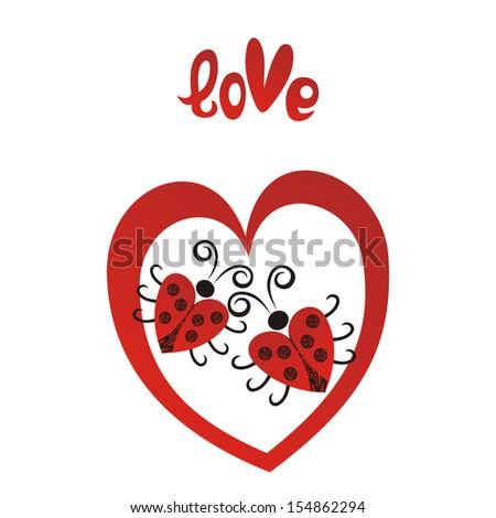 valentines day card ladybug