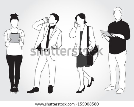 set of people using smart