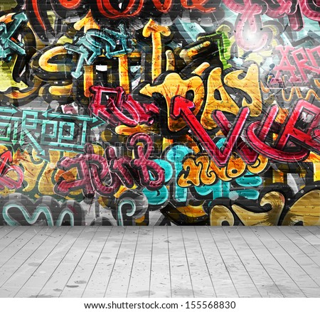 graffiti on wallillustration