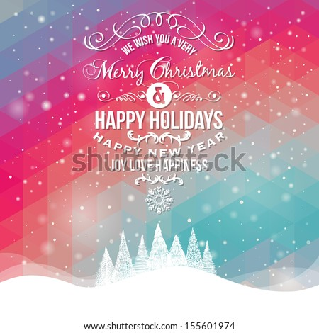 christmas greeting card merry