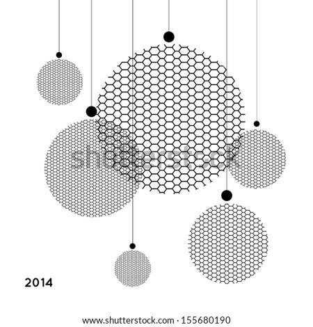 christmas minimalist balls