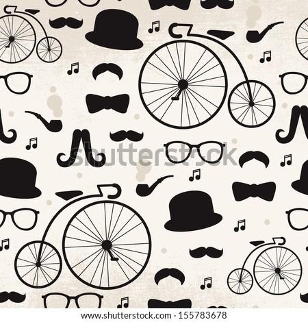 seamless vintage mustache