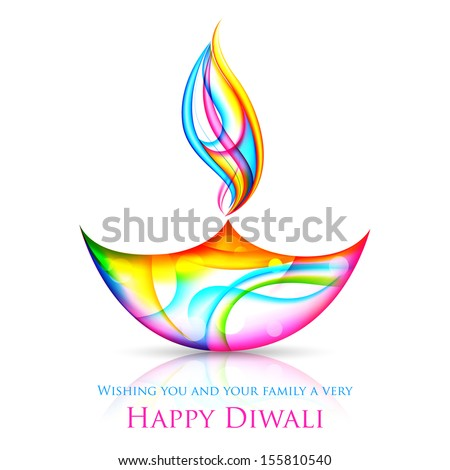illustration of colorful diya