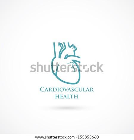 human heart symbol   vector