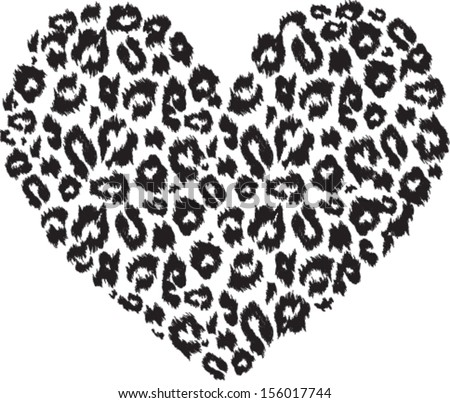 black and white heart with