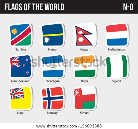 vector set of flags world