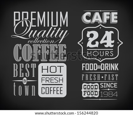 retro typography  coffee shop