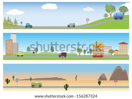 road vector set for you design