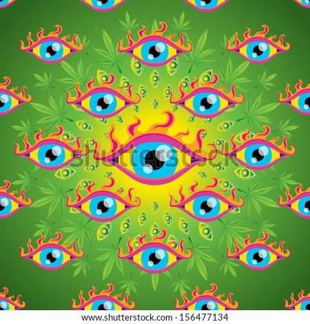 psychedelic trippy marijuana