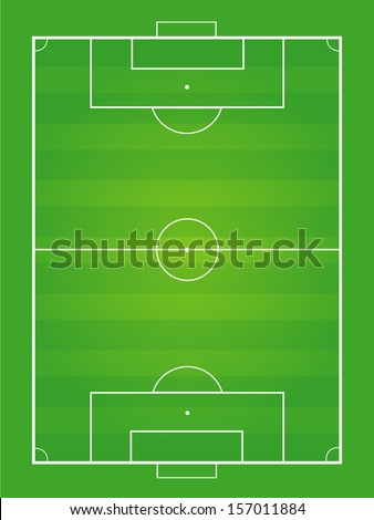 soccer field and soccer ball