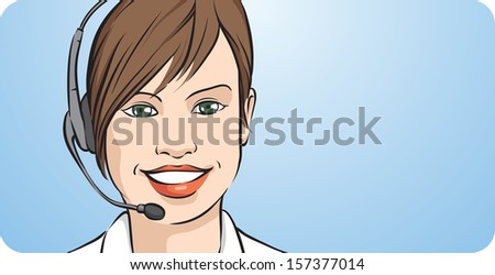 vector illustration of customer