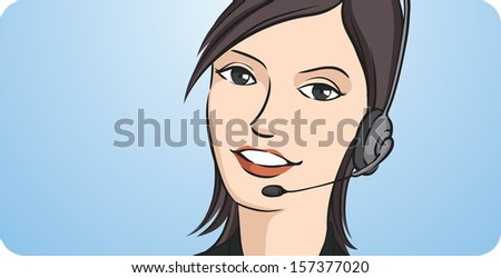 vector illustration of call