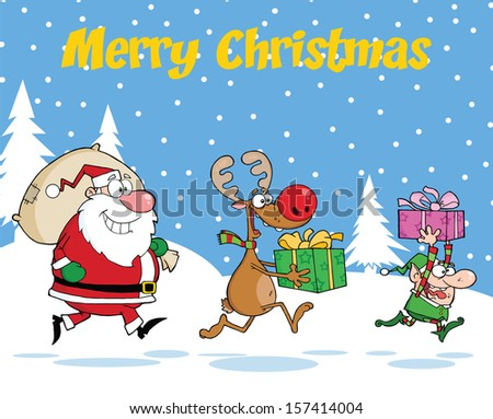 merry christmas greeting with