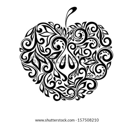 beautiful black and white apple