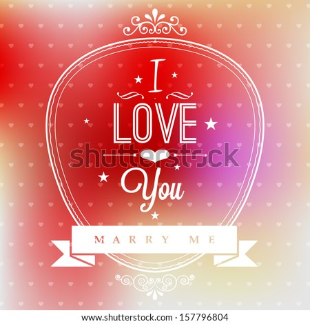 wedding proposal card with
