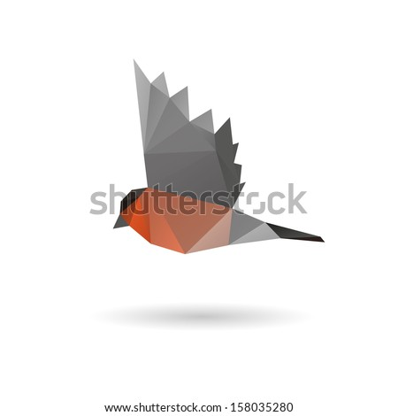 bullfinch abstract  isolated on