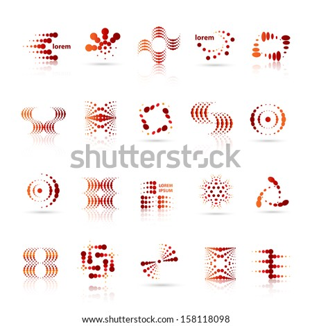 design elements set   isolated