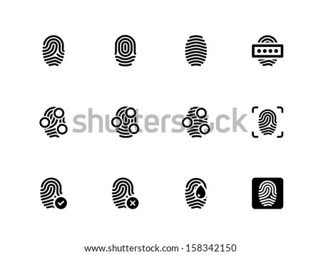 fingerprint icons on white