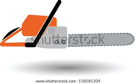 chainsaw color vector
