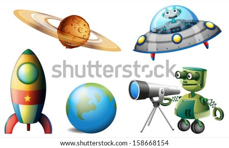 illustration of the spaceships