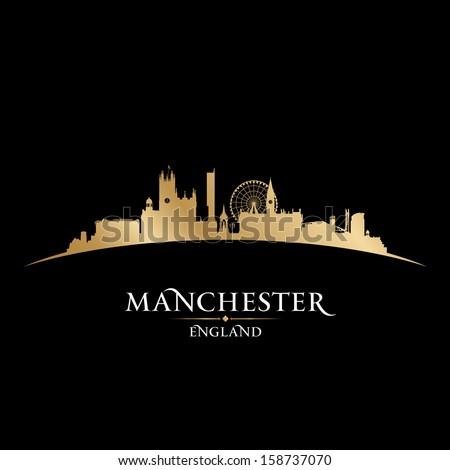 manchester england city skyline