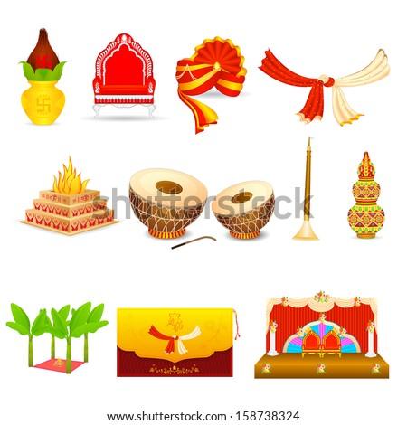 Hindu Wedding Symbols Color 2018 Images Pictures Hindu