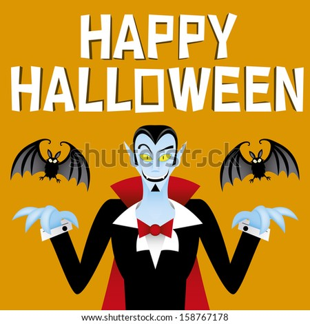 cartoon vector funny vampire