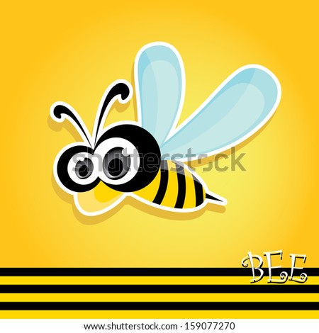 vector bee icon cartoon cute