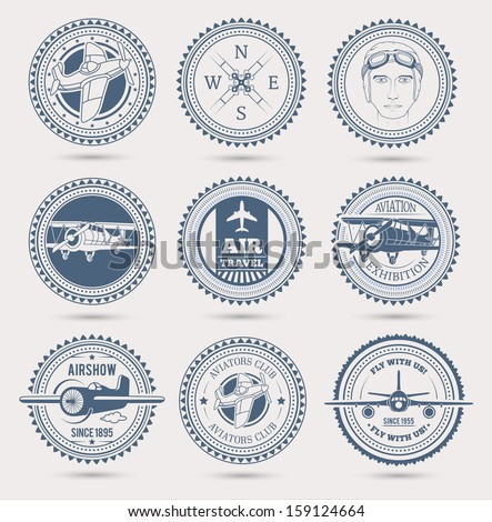 aviation badges eps10