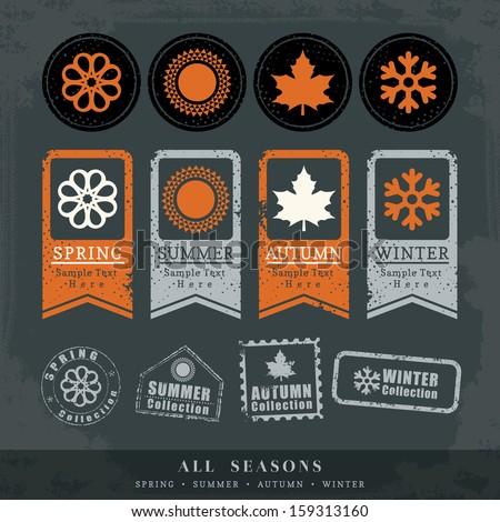 four seasons symbol vector