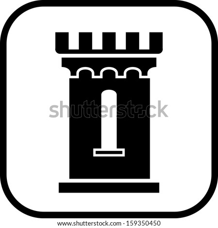 medieval castle tower vector