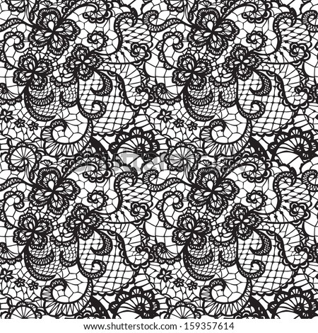 lace black seamless pattern