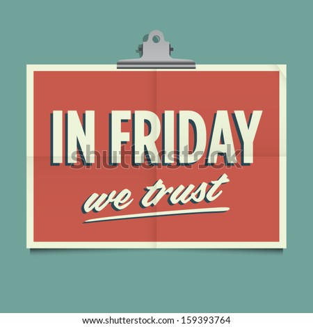 in friday we trust  folded