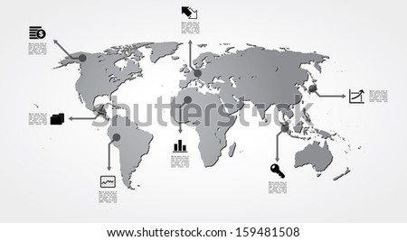 vector world map with