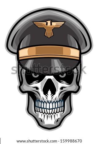 skull soldier wearing hat