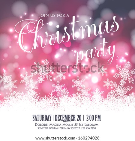 snowflake invitation template free vector download 17 528 free