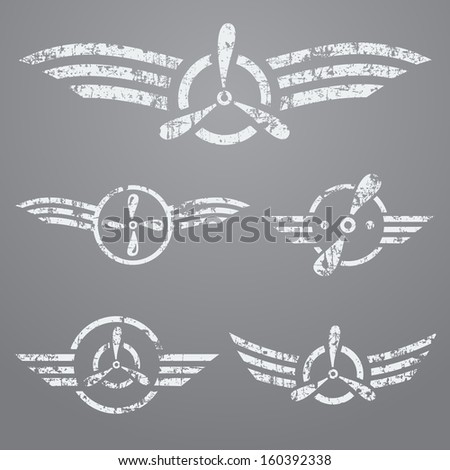 abstract airforce grunge emblem